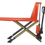 """Scissor Lift Pallet Jack for open Pallets with 3,300 LB capacity, height raised 32"""" from ground"""