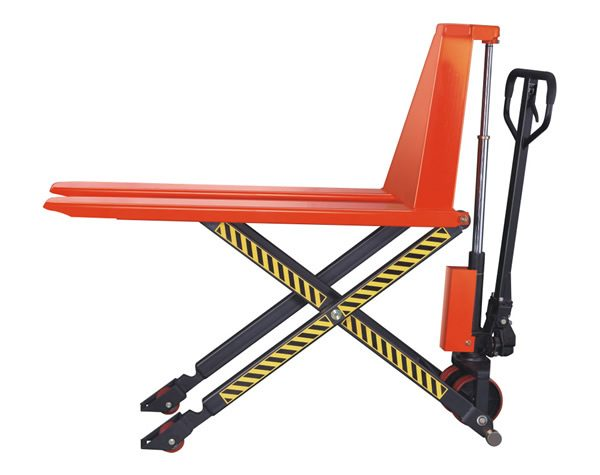 "Scissor Lift Pallet Jack for open Pallets with 3,300 LB capacity, height raised 32"" from ground"
