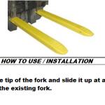 Installation of fork extensions