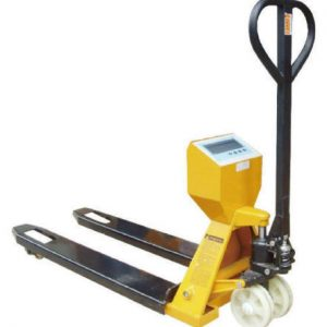 Mr. Dock Plates Pallet Jack with Scale 27 x 48 - 4,400 LB capacity