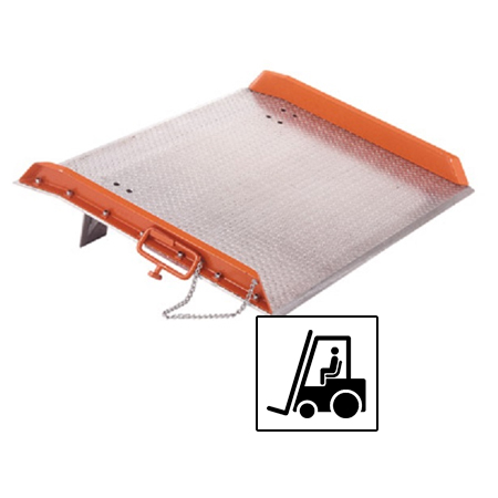 Aluminium dock board for forklift use with 15,000 lb capacity | Mr Dock Plate