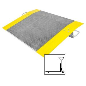 Aluminium Dock Plate for pallet jack, dolly or hand cart use | Mr Dock Plate